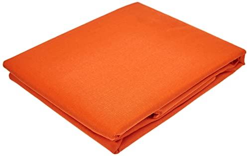 Miracle Home Housse de coussin douce et confortable en coton 50 % polyester Orange 150 cm