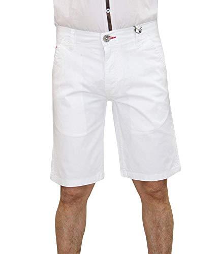 Jack South Mens Shorts Chino Slim Fit Stretch Half Broek Katoen Zomer Casual Knielengte Bodem