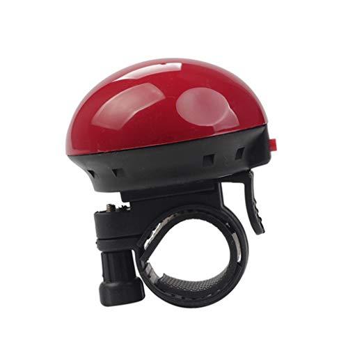 Chou - Timbre eléctrico para Bicicleta (Sonido Claro y Potente, para Bicicleta de montaña y Bicicleta), Rojo