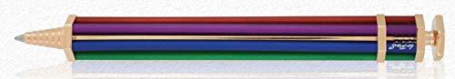 Parafernalia Per Lopas - RAINBOW PENNA A SFERA In Alluminio Anodizzato COLORI ARCOBALENO Ed Ottone Placcato ORO ROSA -Il Regalo Perfetto