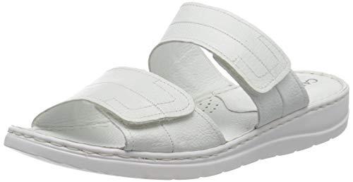 CAPRICE Damen 9-9-27150-26 Pantolette, White Nappa, 42 EU