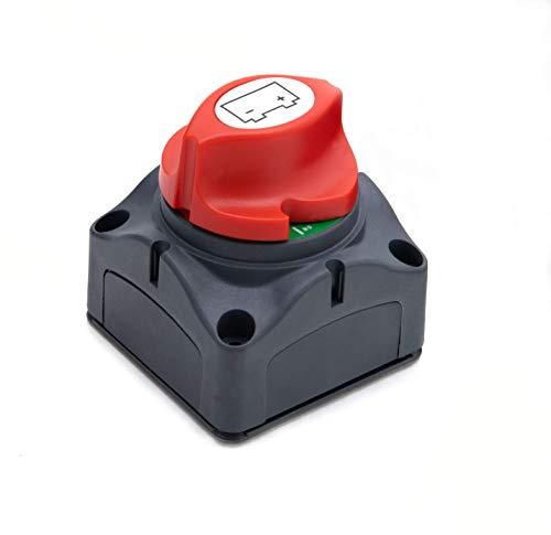 Slidefix Trennschalter für Batterien Batterieschalter 12V - 48V für Auto RV Marine Boot Wohnmobil Motorrad, Kurzschlussschutz.