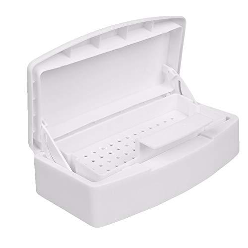 scatkinPYwl Contenitore di disinfezione della scatola di sterilizzazione della scatola di sterilizzazione del vassoio dello sterilizzatore degli strumenti del chiodo White