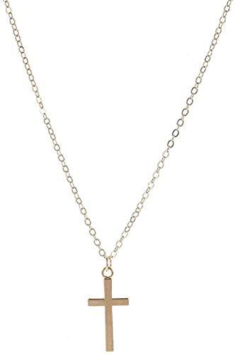 LLJHXZC Collar Vintage Cruz Colgante De Flor Rosa Collar para Mujeres Niñas Collar De Corazón En Capas Florales Adornos Bohemios