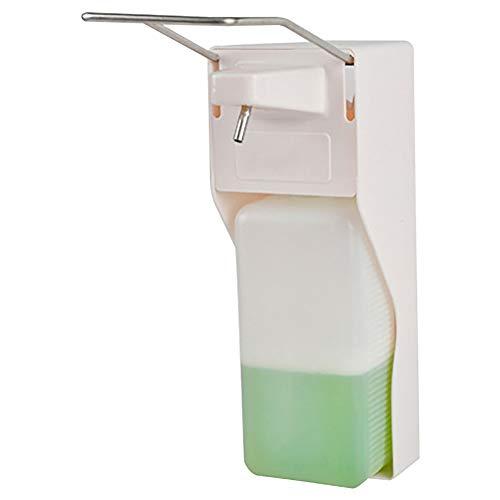 Trasparente//Nero Portasapone Ricaricabile in Vetro con Finitura in Nickel Spazzolato MetroDecor mDesign Dispenser Sapone a Schiuma Ideale per Sapone o bagnoschiuma