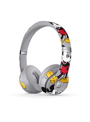beats by dr dre iphone 6 headphones Beats Solo3 Wireless On-Ear Headphones - Apple W1 Headphone Chip, Class 1 Bluetooth, 40 Hours Of Listening Time - Mickey's 90th Anniversary Edition - Grey (Previous Model)