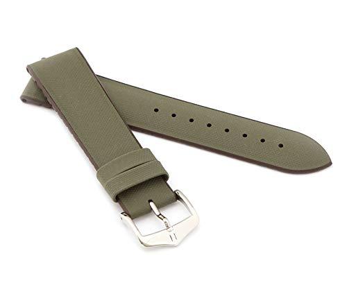 HIRSCH Herren Performance Uhrenarmband Modell Arne 20 mm Grün
