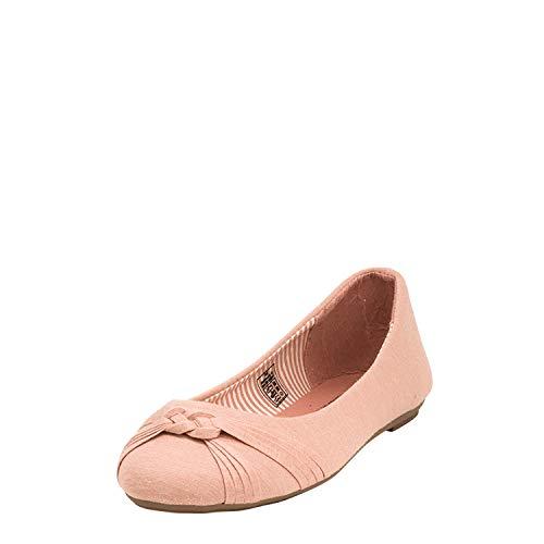 Fitters Footwear That Fits Damen Ballerina Amy Textil leicht aus Stoff Übergröße (42 EU, pink)
