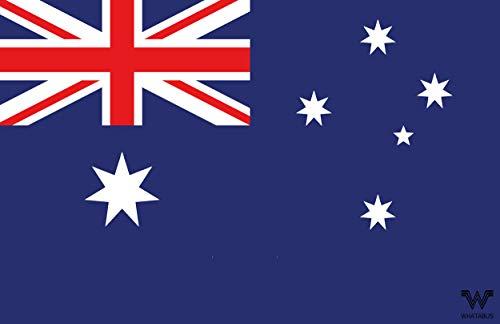 WHATABUS Aufkleber Flagge Australien - Länderflagge als Sticker 8,5 x 5,5 cm