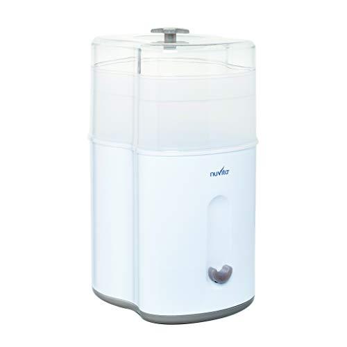 Nuvita 1082 - Sterilizzatore a Vapore Compatto – Igienizzante Elettrico Biberon - Fino a 5 Biberon, Tettarelle e Accessori - Ecologico – Senza BPA - Marchio UE - Design Italiano