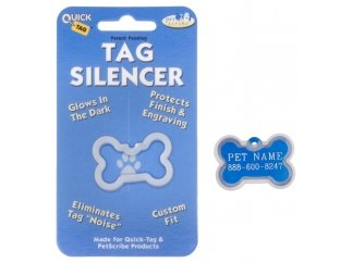 Quick Tags Hillman ID Tag Silencers- (Large Bone Tag)