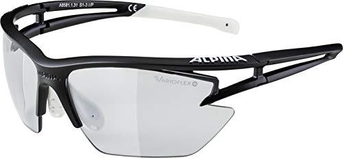 ALPINA ALP. EYE-5 HR S VL+ Sportbrille, Unisex– Erwachsene, black matt-white, one size
