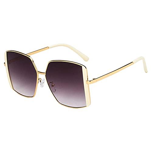 perfeclan Gafas de sol cuadradas retro clásicas Moda vintage Protección UV400 Ligero Conducción Pesca al aire libre Gafas Accesorios Hombres Mujeres Gafas de - Blanquecino