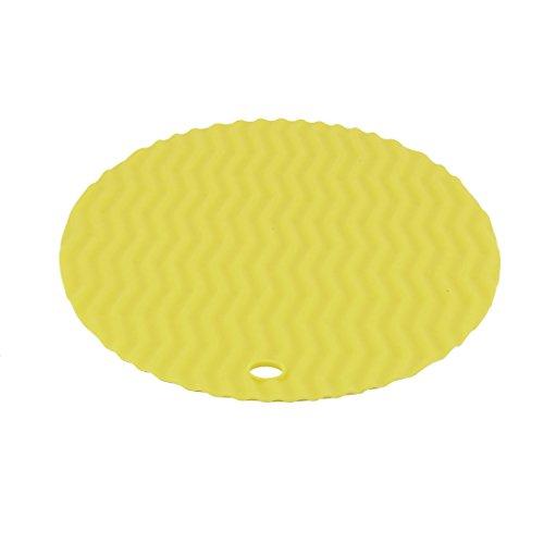 sourcing map Silikon Welle Muster runde Form Tisch Tasse Schüssel Napf hitzebeständige Matte