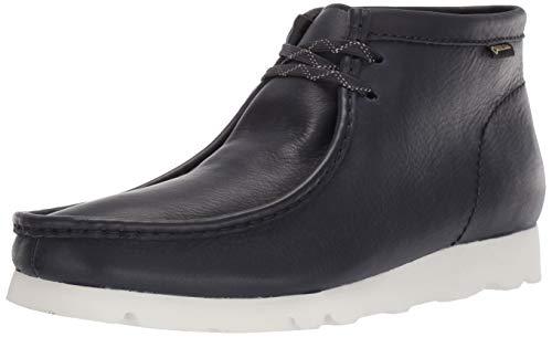 Clarks Men's Wallabee Boot GTX Chukka, Ink Leather, 100 M US