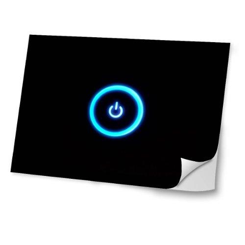 Virano Zeug 10015, Schalterknopf, Skin-Aufkleber Folie Sticker Laptop Vinyl Designfolie Decal mit Ledernachbildung Laminat & Farbig Design für Laptop 11.6