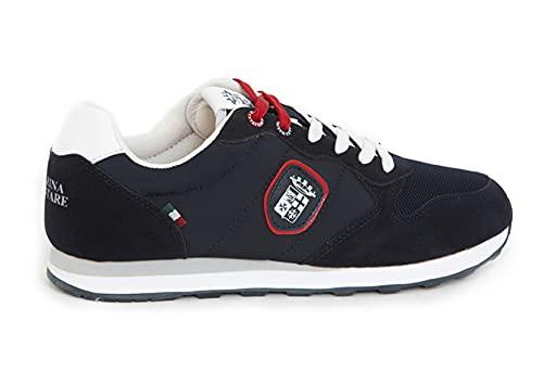Marin Militare, Sneakers Casual Unisex, Woman/Man, Mesh e Camoscio, Urban, Blue, MM1114 (Numeric_45)