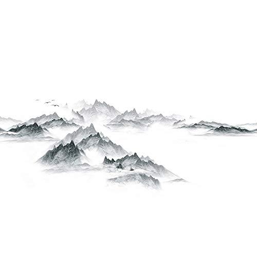 ZTKBG Postmoderne minimalistische Graphitmalerei Kontakttapete Abnehmbare Folie Selbstklebende Granit-Küchenbar Decke Rückwand Fliesen Arbeitsplatte Futter
