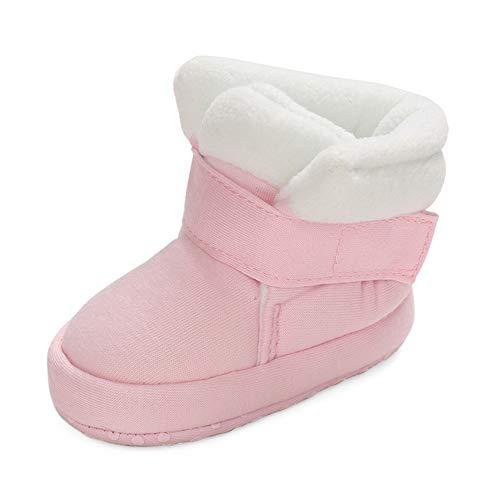MASOCIO Zapatos Botas Bebe Niña Invierno Botines Botitas Bebé Recién Nacido Primeros Pasos Zapatillas Casa Rosa Talla 19 6-12 Meses