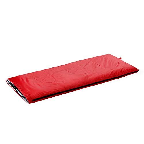 HÜTTENSCHLAFSACK Outdoor Schlafsack, Sommer Und Herbst Umschlag Sportgeräte Berg Liefert Camping Schlafsack Erwachsene (180 * 75) cm,Rot