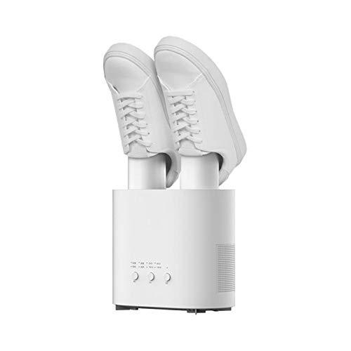 KUANDARMX Boot Dryer Elettrico Stendibiancheria Stivaletti Guanto con Timer UV E Ozono Retrattile Sterilizzazione Deodorante Scarpe Essiccazione Evitare Odori, Muffa E Batteri, White