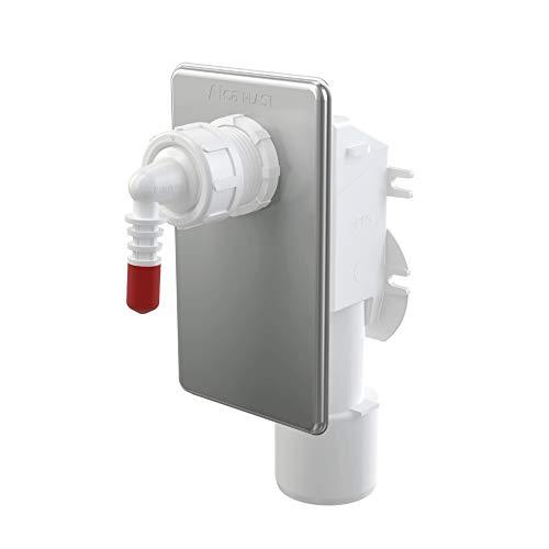 AlcaPlast AKS7 Tropfwasser Kondensat Siphon Unterputz | Ablauf DN50/40 | Klimageräte Luftentfeuchter