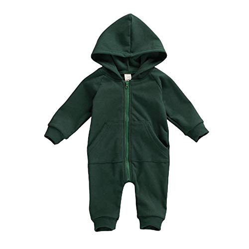 FYBITBO Infant Baby Boys Girls Clothing Zipper Hooded Jumpsuit Romper...