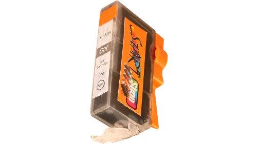 Start - Cartucho de tinta con chip compatible con CLI526GY para impresoras Canon Pixma MG 6150, 6250, 8150, 8240 y 8250, color gris