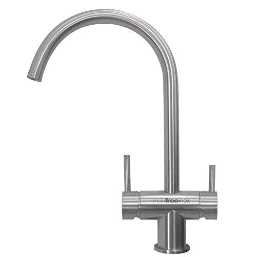 3-Wege-Wasserhahn Arles INOX Edelstahl Metal Free (NEUHEIT) geeignet für eSpring Amway Wasserfilter! Küchenarmatur, Spültischarmatur, Mischbatterie, Dreiwege Wasserhahn