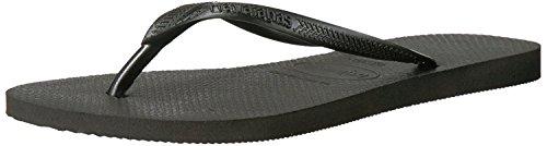 Havaianas Women's Slim Flip Flop Sandal, Black, 7-8