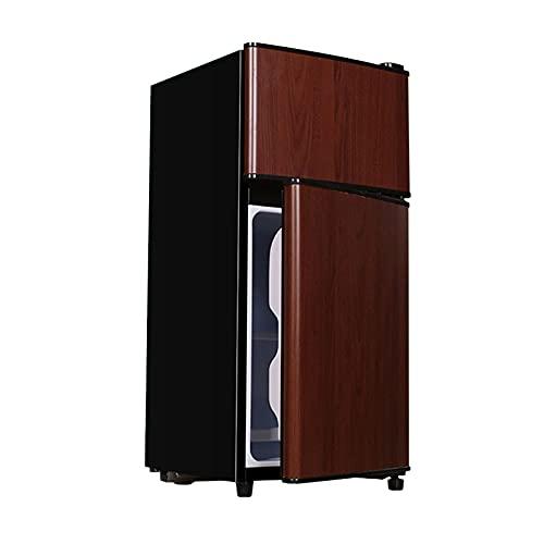 QINGZHUO Nevera 42L,Color Madera,Ahorra Energía Y Es Silenciosa,Ideal para Dormitorio,Sala De Estar Y Espacio De Oficina Pequeño.