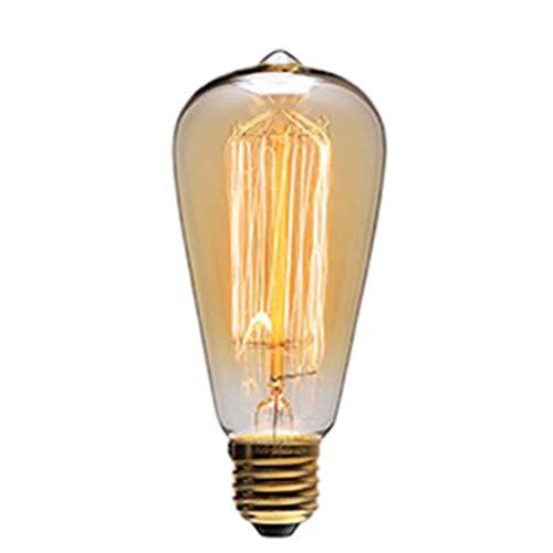 Bombilla Retro Bombilla Luz de tungsteno Creativa Fuente de luz Antigua Bombilla E27 Tornillo Super Brillante Lámpara LED de Ahorro de energía