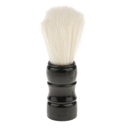 sharprepublic Salon Professionnel Barbier Brosse à Cheveux Barbe à La Moustache Pour Hommes - Noir, 9,5 cm