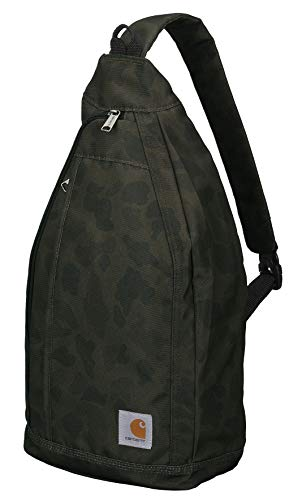 Carhartt Mono Sling Backpack, Unisex Crossbody Bag for Travel and Hiking, Duck Camo