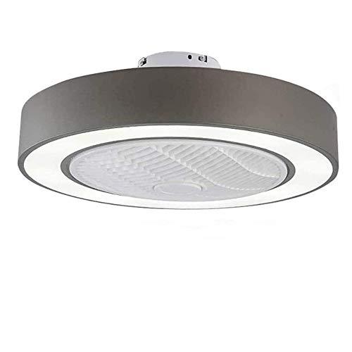 72W Fan Deckenventilator Mit Beleuchtung 50Cm LED Fan Deckenleuchte Dimmbar Mit Fernbedienung Einstellbare Windgeschwindigkeit Moderne Kreative Ultra-Leise Schlafzimmer Wohnzimmer Fan Lampe (Gray)