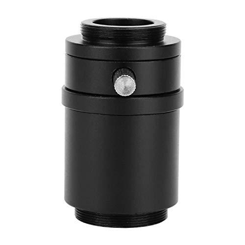 Adaptador de lente de aleación de aluminio microscopio estéreo adaptador de lente de microscopio para microscopio estereoscópico(Industrial camera interface 25mm camera interface)