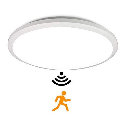 BAGZY LED Lámpara de Techo Interior Moderno 30CM 18W Sensor de Radar 6000K IP65 Impermeable Anti-mosquitos Ronda a Prueba de polvo Iluminación de Techo para Cuarto de Baño Sala de Estar Dormitorio