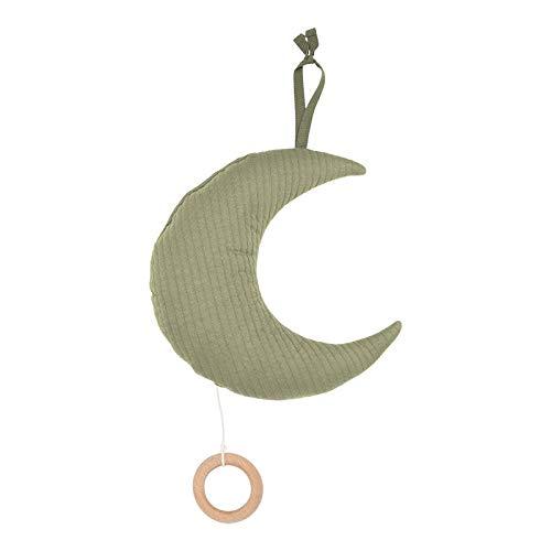 Little Dutch TE20830111 Stoff Spieluhr Mond Pure olive grün 25 x 25 cm