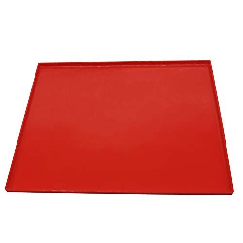 Shenlu Swiss Roll Mat- Multifunzionale in Silicone Antiaderente Pasticceria Mat- Pastry Rolling Mat per Decorare Torte, Dolci e Biscotti, Rosso, Confezione da 1