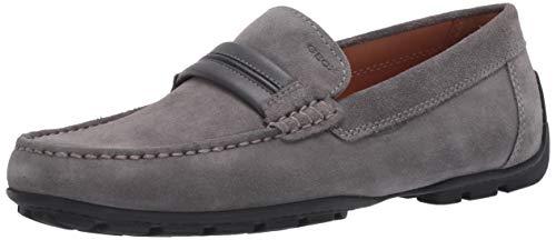Geox Herren U Moner A Mokassin, Grau (Grey C1006), 44 EU