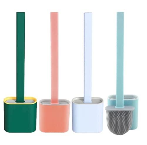 Escova de Limpar Vaso Sanitário Privada Banheiro em Silicone (Rosa)