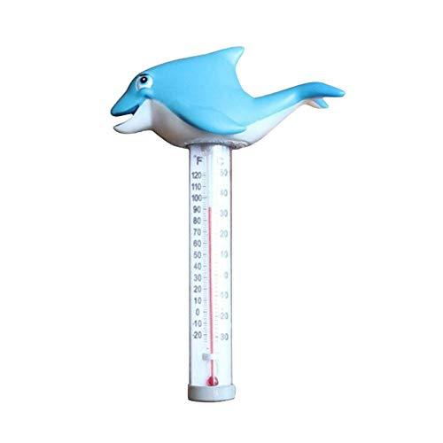 Termómetro Piscina, Termómetro Piscina Delfines Con Termómetro Temperatura Del Agua De Cuerda En Estilo De Dibujos Animados Para Piscinas Al Aire Libre / Interior, Irrompible Para Jacuzzis En Spas