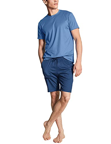CALIDA Herren Casual Smart kurz Pyjamaset, Bay Blue, 50
