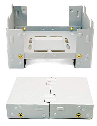 Outdoor Saxx® - Klappbarer kompakter Kocher für Trocken-Brennstoff Stove, Dosen, Töpfe, Pfannen, Zelten, Festival, Hosentaschen-Format