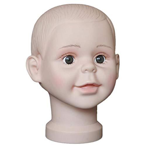 CUTICATE Kinder Mannequin Schaufenster Dekokopf Baby Kopfmodell Puppe Mütze Hüte Perückenkopf Schminkkopf zum Anzeigen von Perücken, Hüten, Brillen usw. - M