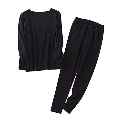 Geilisungren Thermounterwäsche Set Herren Thermo Unterwäscheset Warme Unterwäsche Dicker Pyjama Leggings und Langarmshirt Homewear Long Johns Set
