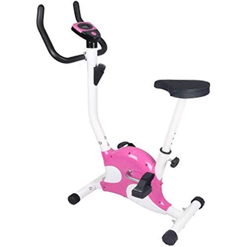 WJFXJQ Bicicleta giratoria Ejercicio Bicicleta Interior Ultra-silencioso Cinturón Cardio Máquina Cardio (Color : Pink)