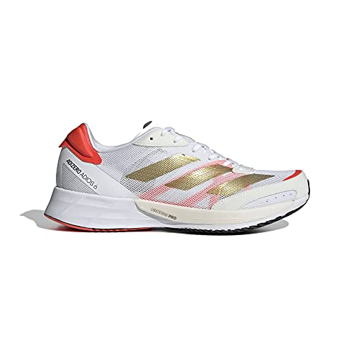 adidas Adizero Adios 6 W, Zapatillas para Correr Mujer, FTWR White Gold Met Solar Red, 37 1/3 EU