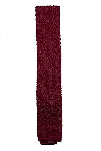 Montecristo Corbatas de Hombre 100% Punto de Seda (Borgoña)