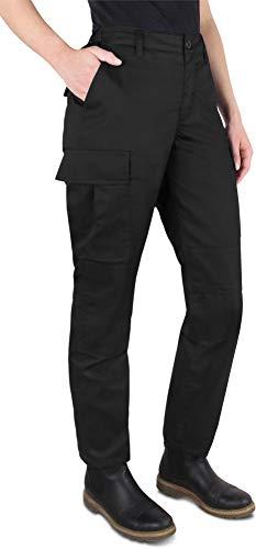normani Damen Rangerhose wasserbweisend Outdoor Bundhose mit Cargotaschen und Frauenschnitt [XS-L] Farbe Schwarz Größe M